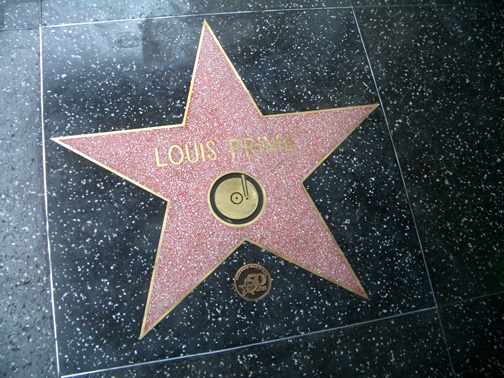 Louis+Prima+Star+Hollywood+Walk+of+Fame