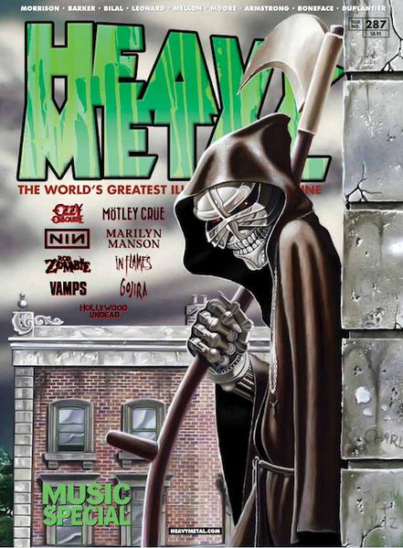 Heavy-metal-magazine-Derek-riggs-cover-Iron-maiden-Legacy-of-the-beast-eddie