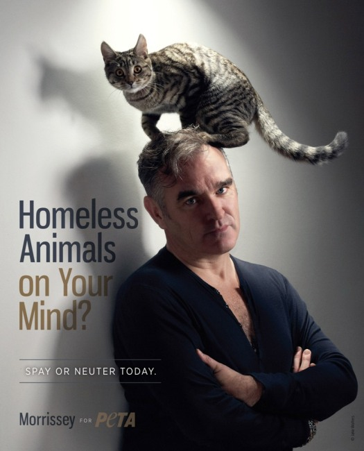Rock Icon Morrissey Promotes Spaying and Neutering